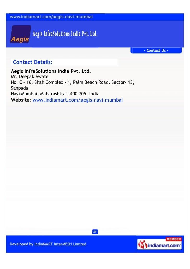 Aegis Infrasolutions India Pvt Ltd Navi Mumbai Ec Drive
