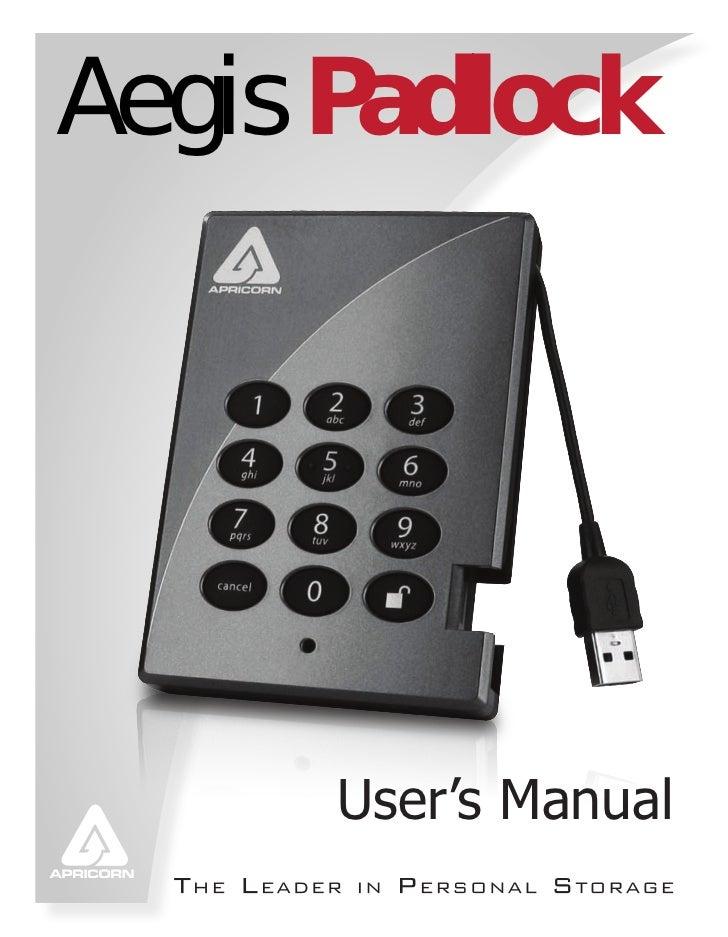 Aegis Padlock      User's Manual