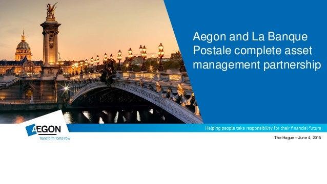 Aegon La Banque Postale Strategic Partnership