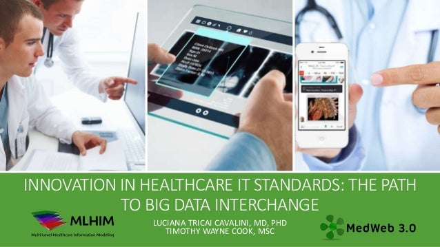 INNOVATION IN HEALTHCARE IT STANDARDS: THE PATH TO BIG DATA INTERCHANGE LUCIANA TRICAI CAVALINI, MD, PHD TIMOTHY WAYNE COO...