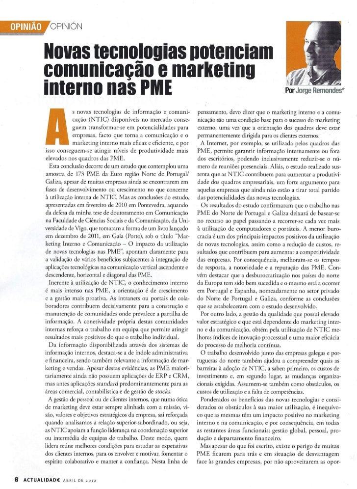 Novas tecnologias potenciam comunicação e marketing interno nas PME