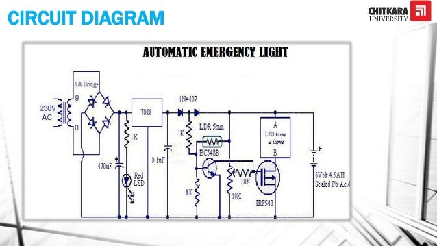 Automatic emergency light bulb run by an inverter 7 circuit diagram ccuart Image collections