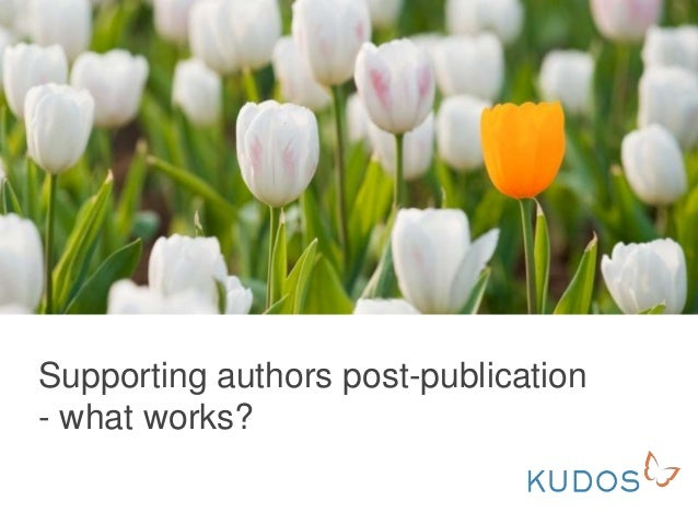 Supporting authors post-publication - what works?