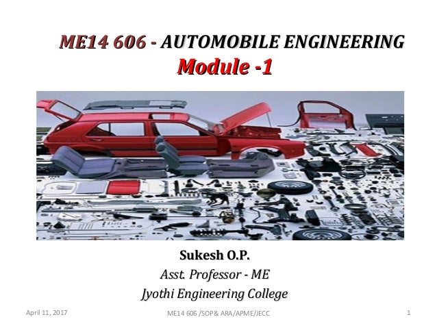 Introduction Automobile Engineering