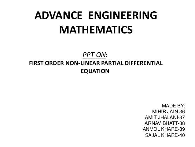 Advance engineering mathematics