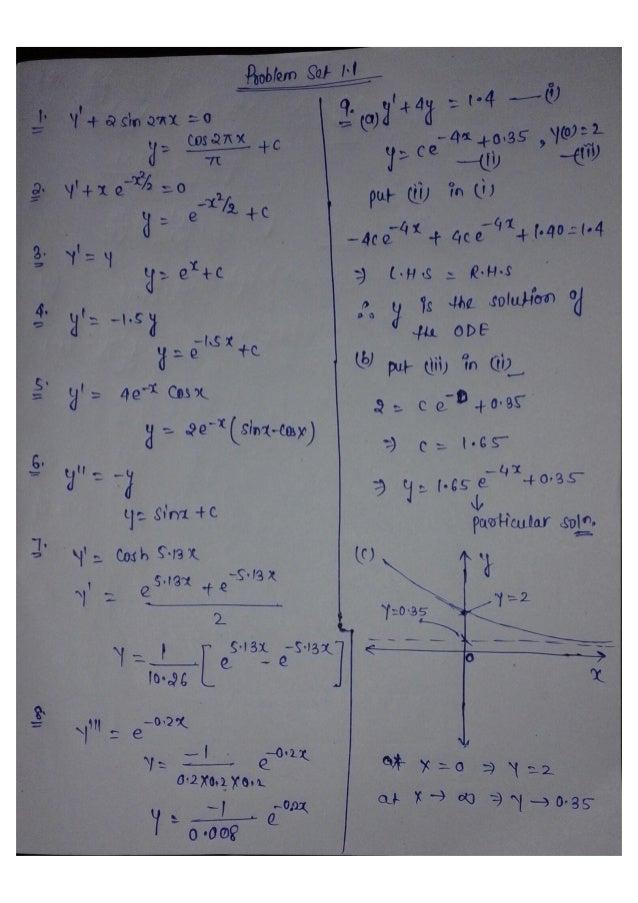 advanced engineering mathematics chapter1 1 solution