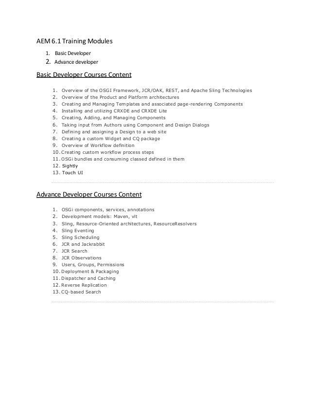 Aem 6 x Training Tutorials for Beginners