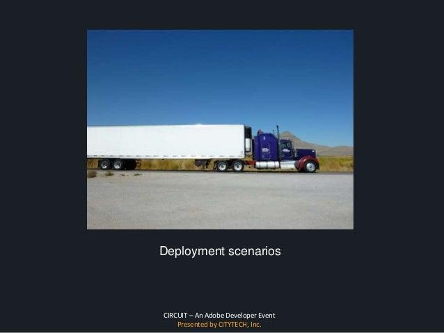 CIRCUIT – An Adobe Developer Event Presented by CITYTECH, Inc. Deployment scenarios