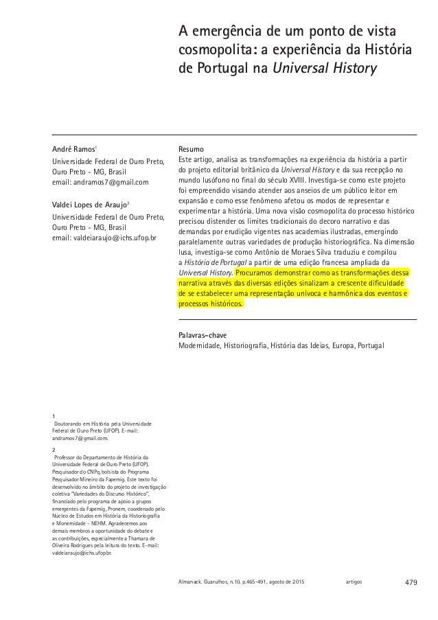 479Almanack. Guarulhos, n.10, p.465-491, agosto de 2015 artigos A emergência de um ponto de vista cosmopolita: a experiênc...