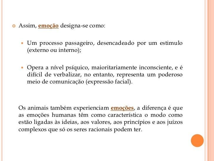 Teorias das emoções.