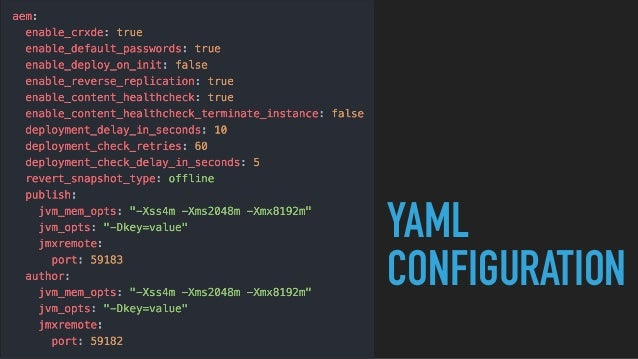 YAML CONFIGURATION