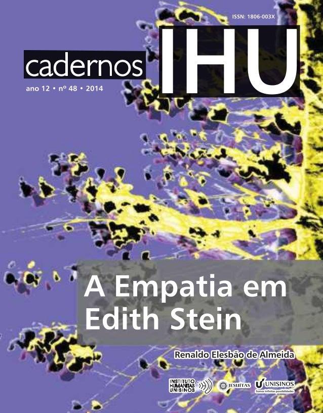 A Empatia De Edith Stein
