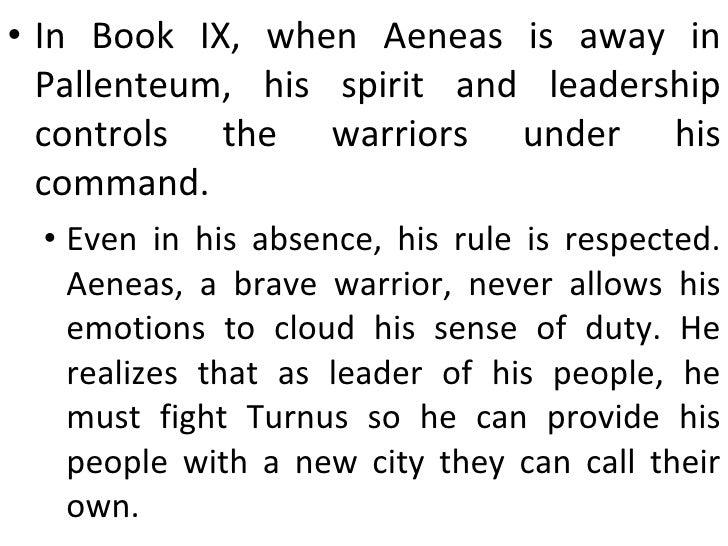 The Aeneid Character Analysis - Aeneas (Book 12)