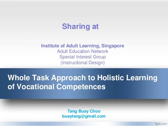 Sharing at        Institute of Adult Learning, Singapore                Adult Education Network                 Special In...