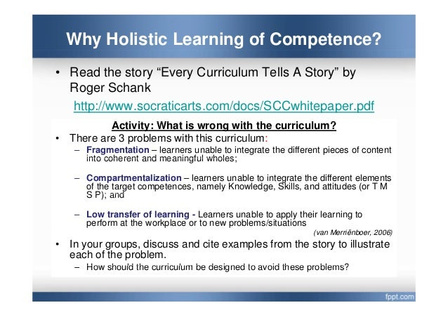 examples of holistic learning