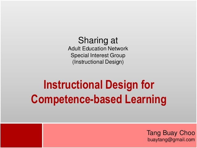 Sharing at       Adult Education Network        Special Interest Group        (Instructional Design)  Instructional Design...