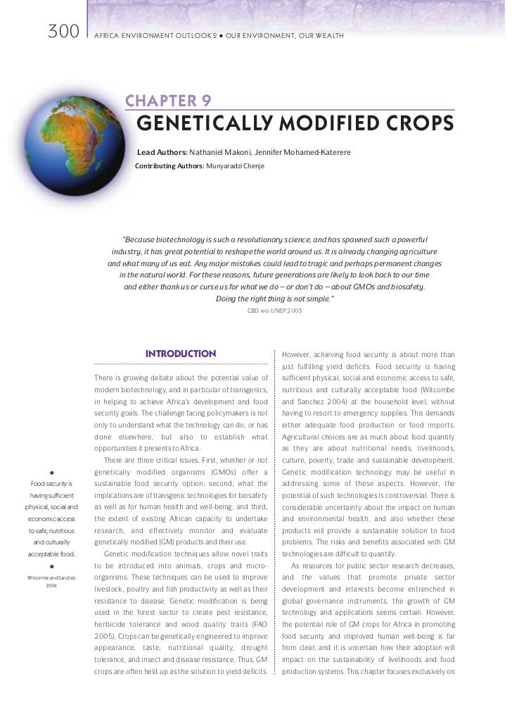 "genetically modified food and crops 2 essay Only one gmo food crop, an insect-resistant corn, has ever been approved for   this essay is adapted from mr lynas's new book, ""seeds of."