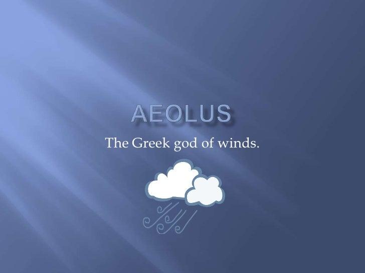 Aeolusbr The Greek God