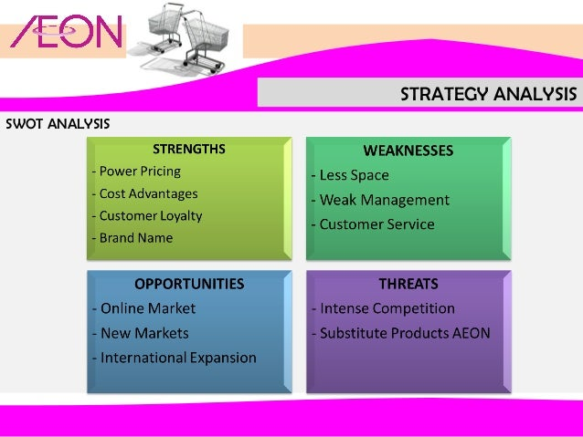 aeon co m bhd swot analysis Aeon co, ltd (8267) - financial and strategic swot analysis review provides you an in-depth strategic swot analysis of the company's businesses and operations.