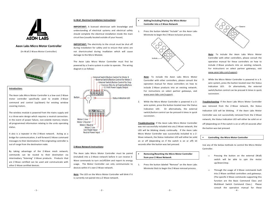 In Wall Electrical Installation Instructions O Adding Including Pairing The Micro