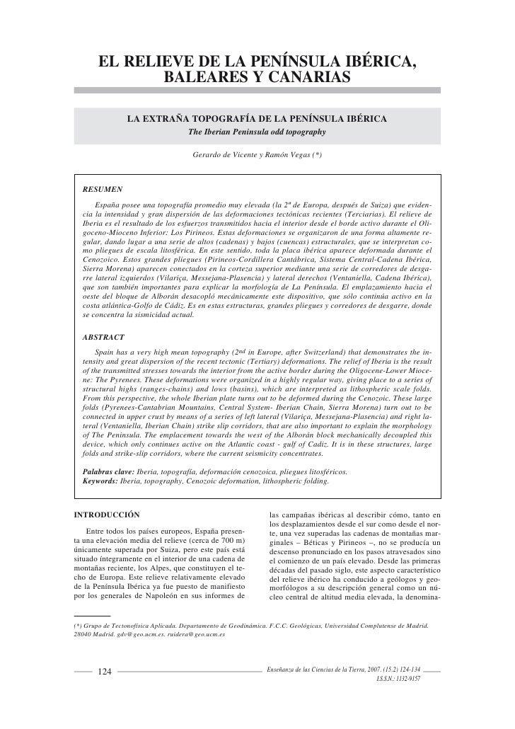 EL RELIEVE DE LA PENÍNSULA IBÉRICA,                BALEARES Y CANARIAS                   LA EXTRAÑA TOPOGRAFÍA DE LA PENÍN...