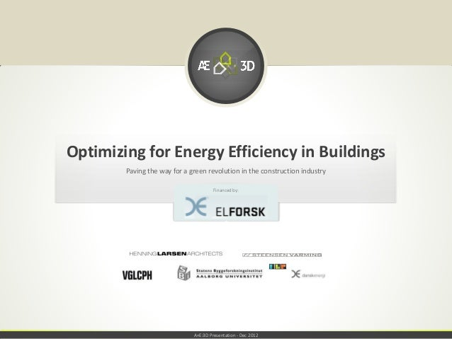 Optimizing for Energy Efficiency in Buildings        Paving the way for a green revolution in the construction industry   ...