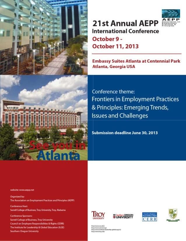 AEPP 21st Annual International Conference,  Oct. 9-11,  2013 in Atlanta, Georgia USA