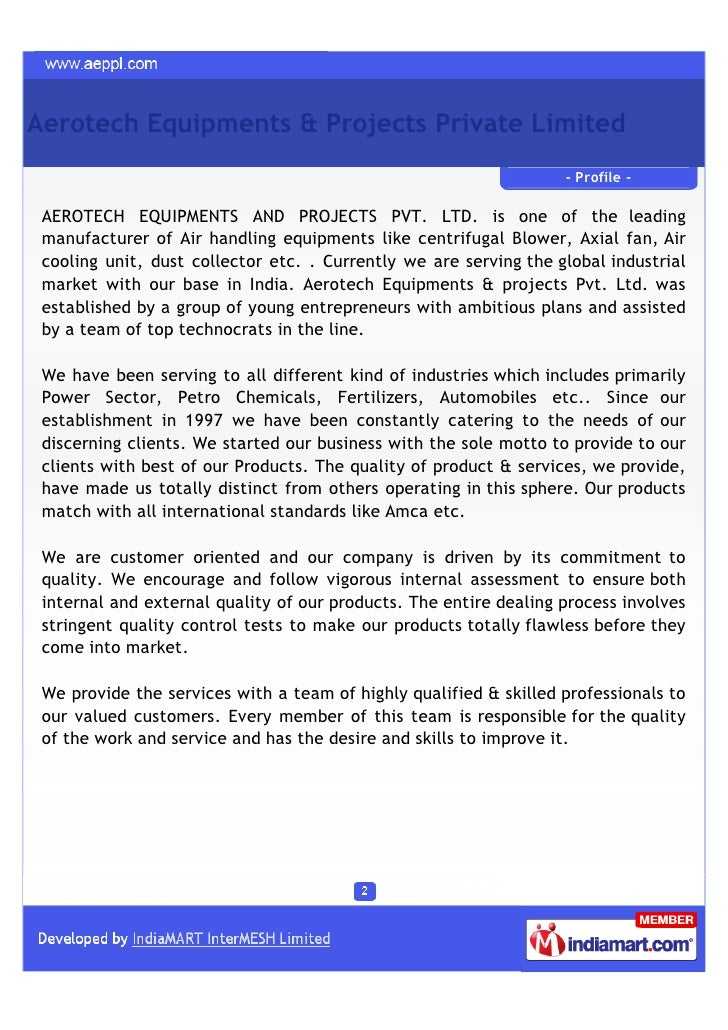 Aerotech Equipments & Projects Private Limited, Greater