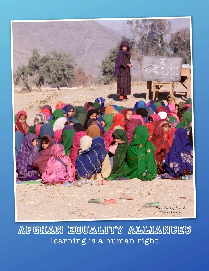 Photo by Paul                               Avallone    Afghan eQuality Alliances     learning is a human right