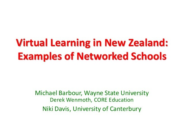 Virtual Learning in New Zealand:Examples of Networked SchoolsMichael Barbour, Wayne State UniversityDerek Wenmoth, CORE Ed...