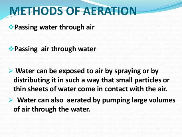methods of aeration Aeration