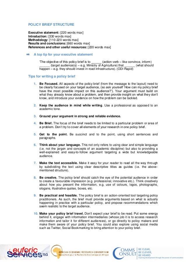 writing a policy brief pdf