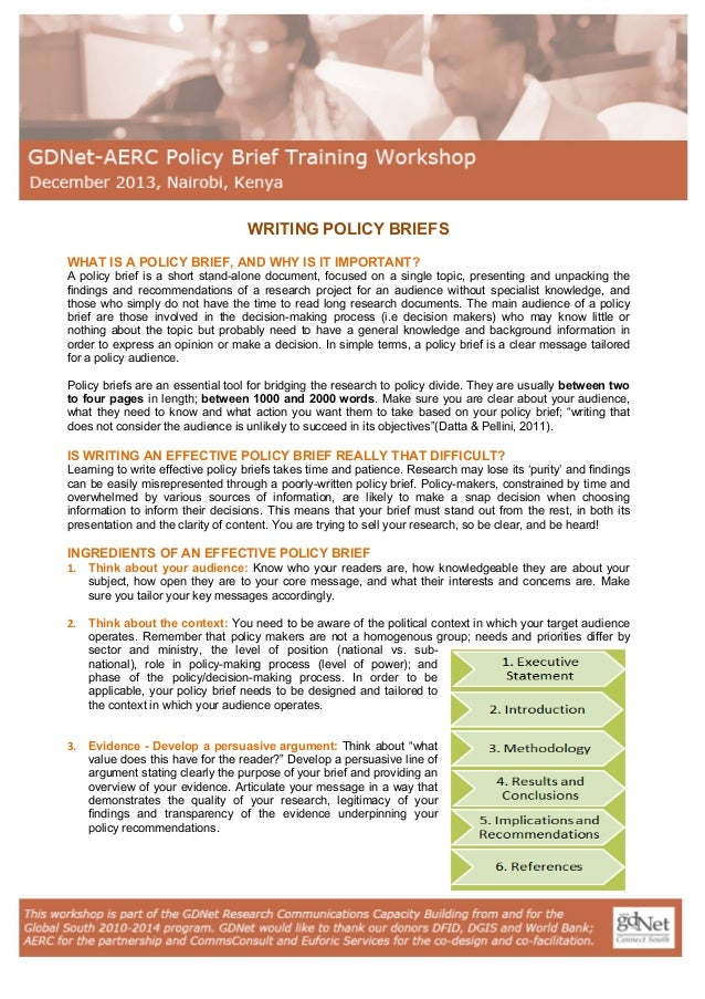 What Makes a Good Policy Brief?