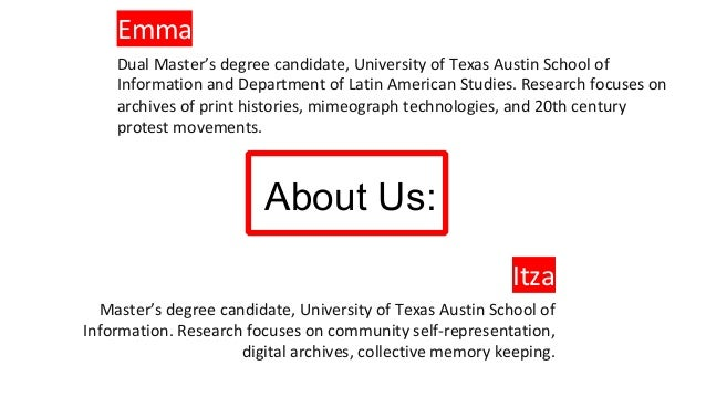 CROSSING BORDERS:  Why Archival Science Students Benefit from Interdepartmental and Transdisciplinary Coursework Slide 2