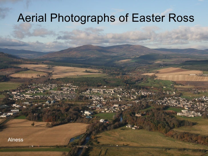 Aerial Photographs of Easter Ross Alness
