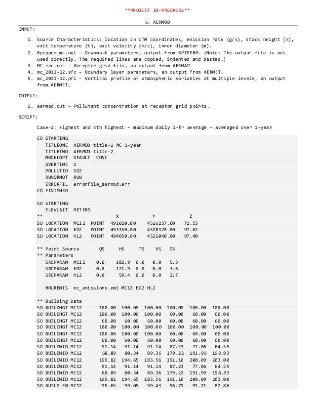 Near-field Gaussian Dispersion Analysis in AERMOD: A