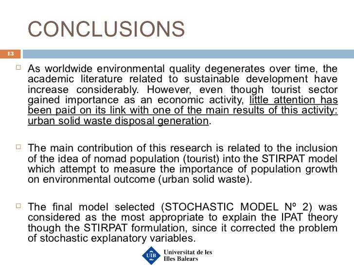 TOURISM GROWTH AND WASTE DISPOSAL GENERATION: AN IPAT-TYPE ...
