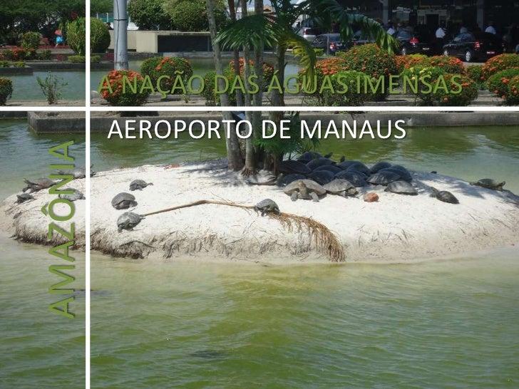 A NAÇÃO DAS ÁGUAS IMENSAS<br />AEROPORTO DE MANAUS<br />AMAZÔNIA<br />
