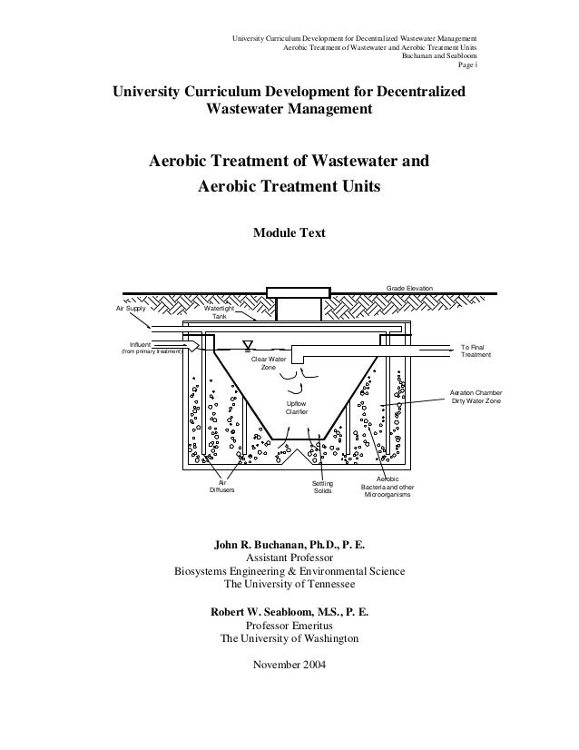 University Curriculum Development for Decentralized Wastewater Management                                                 ...
