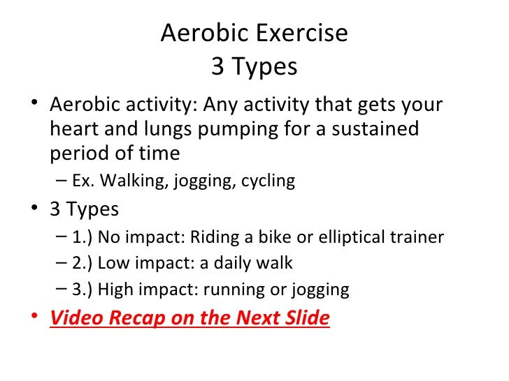Aerobic Exercise: Type, Duration, Frequency, Intensity