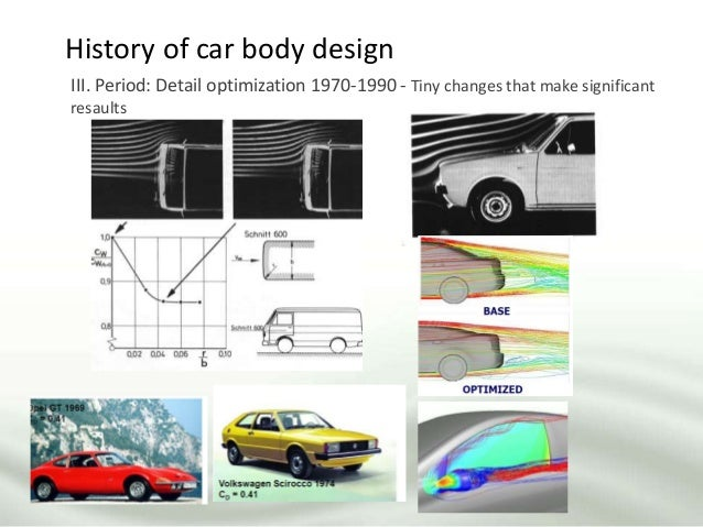 History of car body design III. Period: Detail optimization 1970-1990 - Tiny changes that make significant resaults
