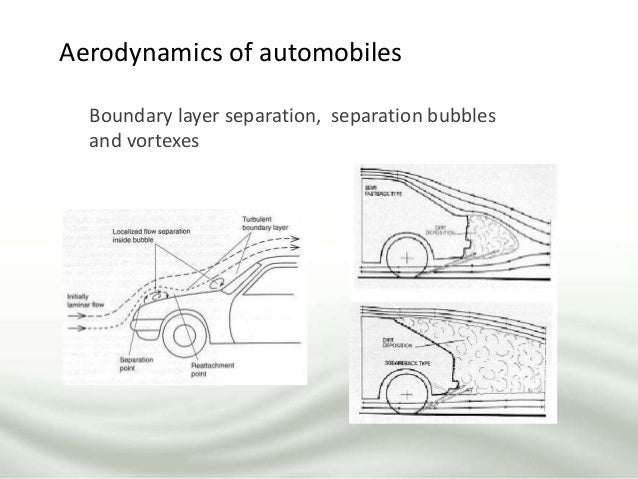Aerodynamics of automobiles Boundary layer separation, separation bubbles and vortexes