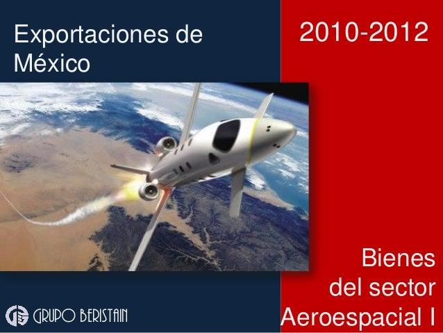 Exportaciones de México Bienes del sector Aeroespacial I 2010-2012 Grupo beristain