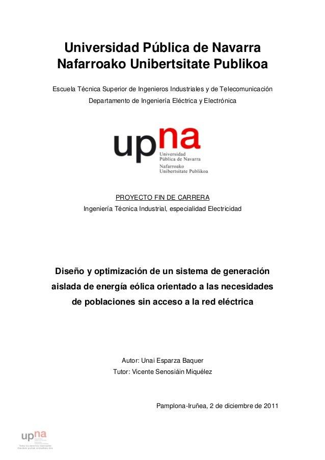 Universidad Pública de Navarra Nafarroako Unibertsitate Publikoa Escuela Técnica Superior de Ingenieros Industriales y de ...