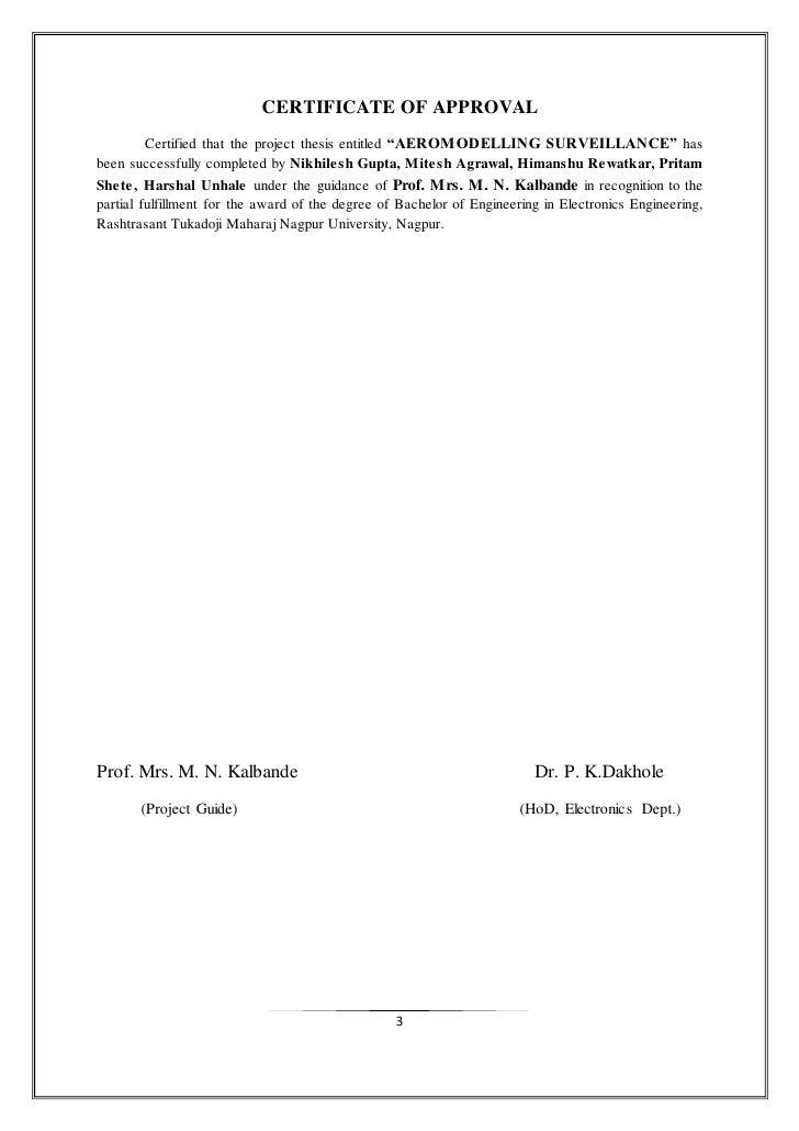 dissertation completion certificate format