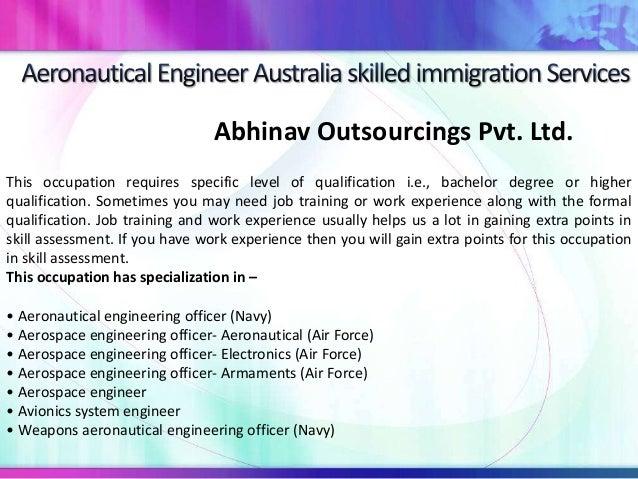 Aeronautical engineer australia skilled immigration services Slide 2