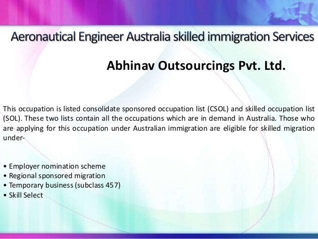 Aeronautical engineer australia skilled immigration services Slide 3