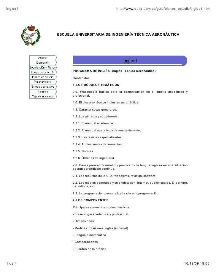 Íngles I                                          http://www.euita.upm.es/guia/planes_estudio/ingles1.htm                E...