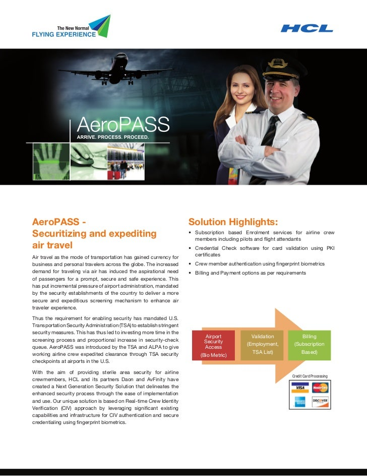 AeroPASS -                                                            Solution Highlights:Securitizing and expediting     ...