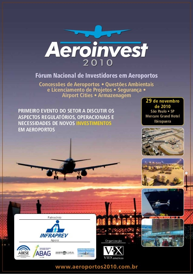 Fórum Nacional de Investidores em Aeroportos Concessões de Aeroportos • Questões Ambientais e Licenciamento de Projetos • ...